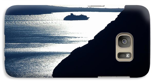 Galaxy Case featuring the photograph Early Night Santorini Island Greece by Colette V Hera  Guggenheim
