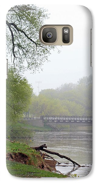 Galaxy Case featuring the photograph Early Spring Morning Fog by Kay Novy