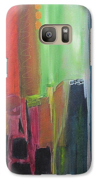 Galaxy Case featuring the painting Earth Layers by Nicole Nadeau
