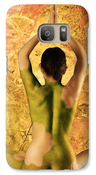 Galaxy Case featuring the photograph Earthy Om by Angelique Olin
