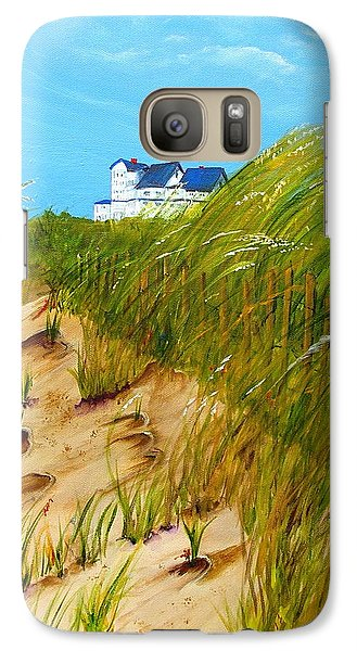 Galaxy Case featuring the painting East Beach  Norfolk Va by Mary Kay Holladay