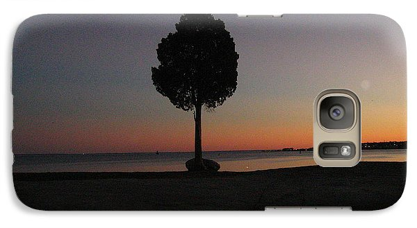 Galaxy Case featuring the photograph Eastern Sunset And Moon Rise by Bruce Carpenter
