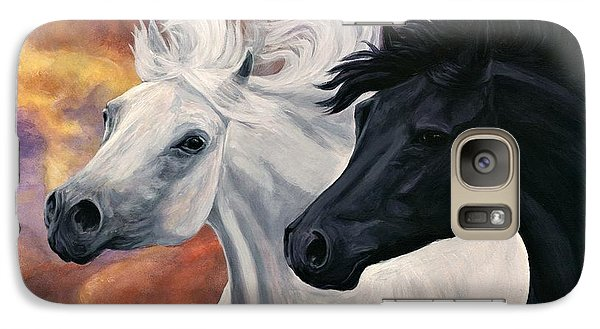 Galaxy Case featuring the painting Ebony And Ivory by Sheri Gordon