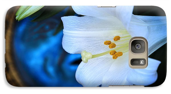 Galaxy Case featuring the photograph Eclipse With A Lily by Steven Sparks