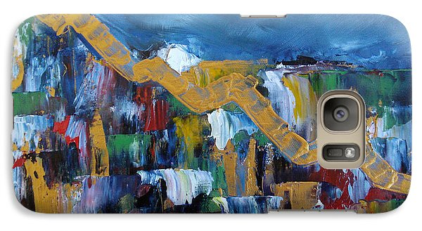 Galaxy Case featuring the painting Economic Meltdown by Judith Rhue