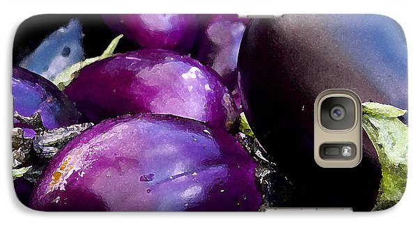 Galaxy Case featuring the photograph Eggplants by Michael Friedman