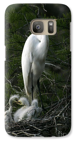 Galaxy Case featuring the photograph Egret - Proud Mother by Luana K Perez