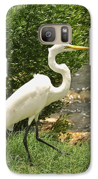 Galaxy Case featuring the photograph Egret By The Bay by Rick Frost