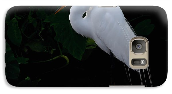 Galaxy Case featuring the photograph Egret On A Branch by Art Whitton