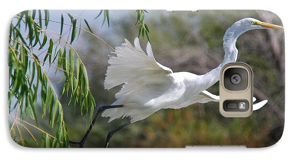 Galaxy Case featuring the photograph Egret's Flight by Tam Ryan