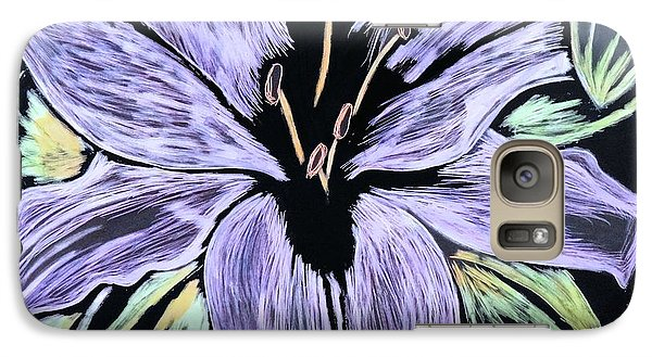 Galaxy Case featuring the drawing Electric Lily Phase Two by Lisa Brandel