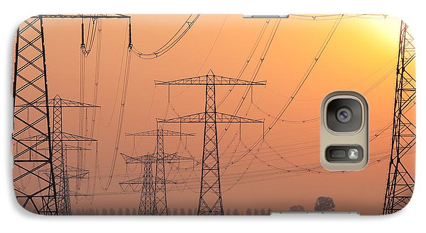 Galaxy Case featuring the photograph Electricity Pylons by Hans Engbers