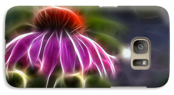 Galaxy Case featuring the photograph Electrified Coneflower by Lynne Jenkins