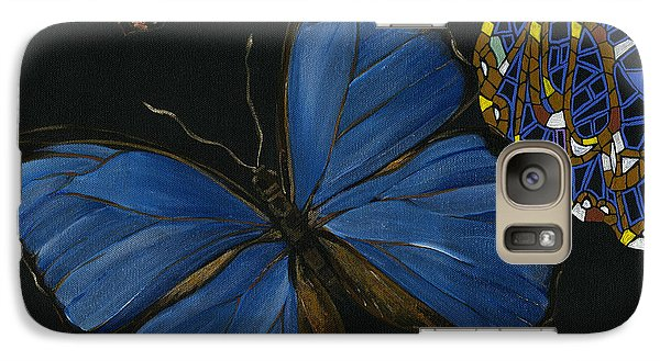 Galaxy Case featuring the painting Elena Yakubovich - Butterfly 2x2 Lower Left Corner by Elena Yakubovich