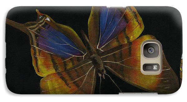 Galaxy Case featuring the painting Elena Yakubovich - Butterfly 2x2 Top Left Corner by Elena Yakubovich