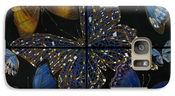Galaxy Case featuring the painting Elena Yakubovich Butterfly 2x2 by Elena Yakubovich