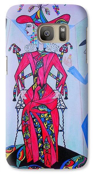 Galaxy Case featuring the painting Eleonore Friend Von Claus by Marie Schwarzer