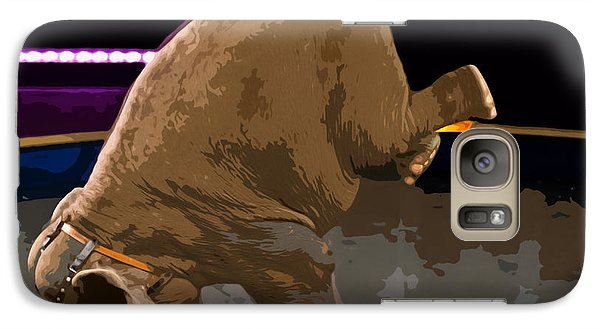 Galaxy Case featuring the photograph Elephant Perfomance At Circus by Susan Leggett