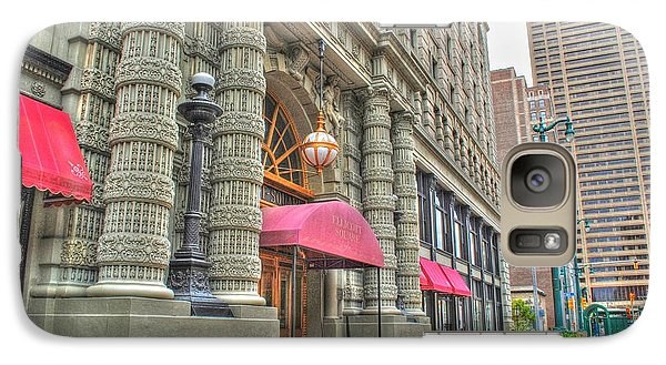Galaxy Case featuring the photograph Ellicott Square Building And Hsbc by Michael Frank Jr