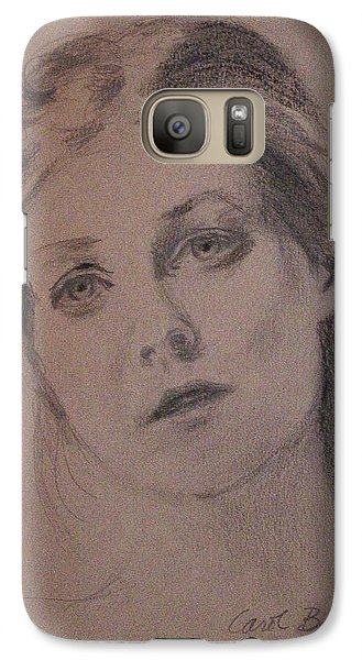 Galaxy Case featuring the painting Em by Carol Berning