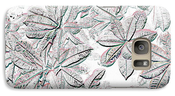 Galaxy Case featuring the photograph Embossed Crotons by Tom Wurl