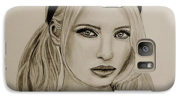Galaxy Case featuring the drawing Emily by Michael Cross