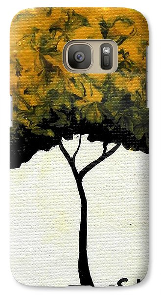 Galaxy Case featuring the painting Emily's Trees Yellow by Oddball Art Co by Lizzy Love
