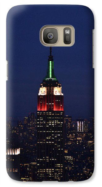 Galaxy Case featuring the photograph Empire State Building1 by Zawhaus Photography