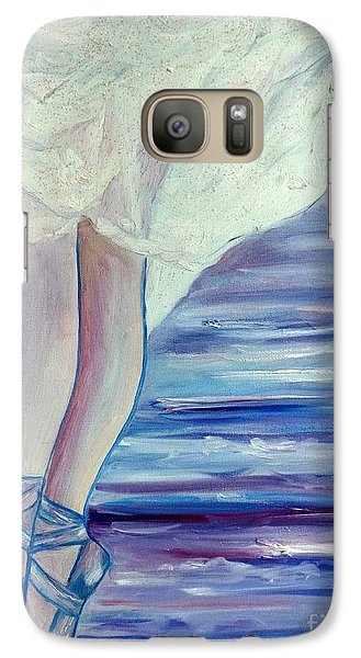 Galaxy Case featuring the painting En Pointe by Julie Brugh Riffey