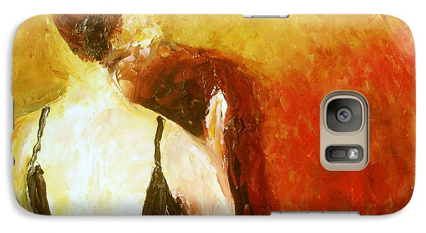 Galaxy Case featuring the painting Enchanted Evening by Keith Thue