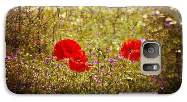 English Summer Meadow. Galaxy S7 Case by Clare Bambers - Bambers Images
