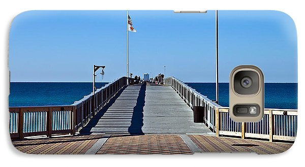 Galaxy Case featuring the photograph Entrance To A Fishing Pier by Susan Leggett