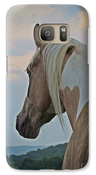 Galaxy Case featuring the photograph Equine Study - Paint Horse by Laurinda Bowling