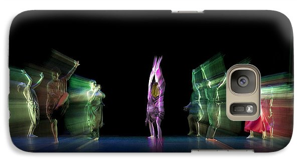 Galaxy Case featuring the photograph Escaping Dancers by Raffaella Lunelli