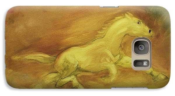 Galaxy Case featuring the painting Escaping The Flames by George Pedro