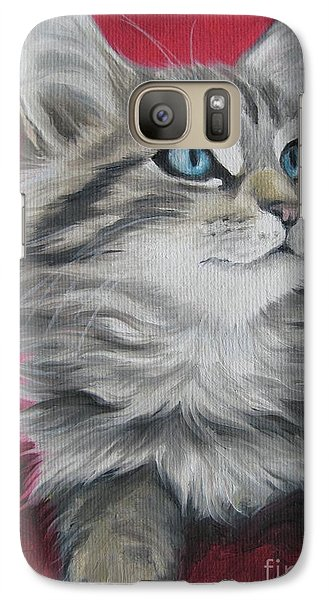Galaxy Case featuring the painting Estrella by Jindra Noewi