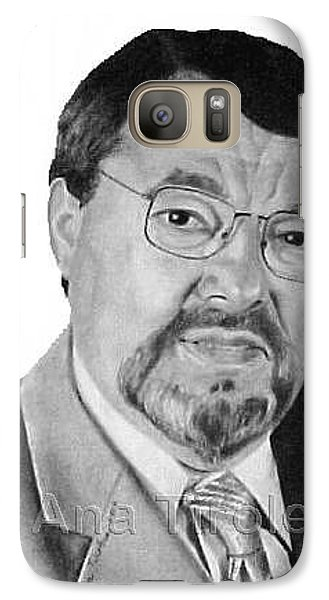 Galaxy Case featuring the drawing Euclides Cavaco by Ana Tirolese