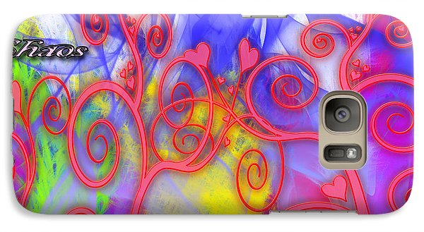 Galaxy Case featuring the digital art Even In Chaos Find Love by Clayton Bruster