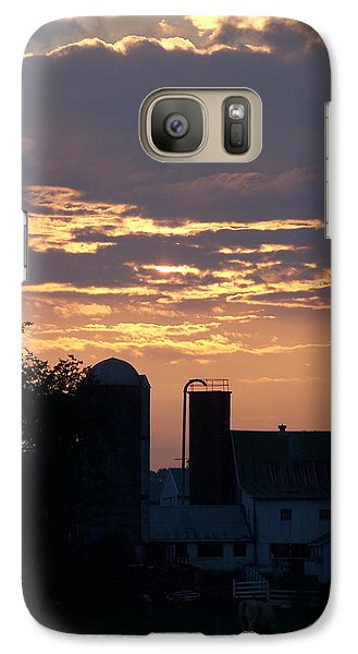 Galaxy Case featuring the photograph Evening On The Farm by Robin Regan