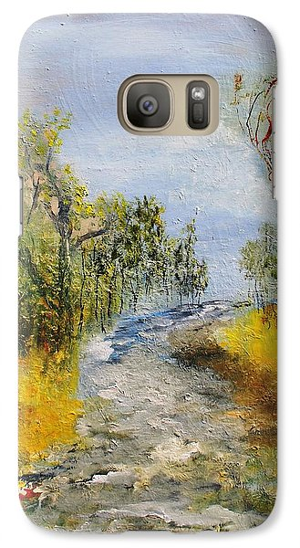 Galaxy Case featuring the painting Evening Romance by Evelina Popilian