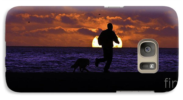 Galaxy Case featuring the photograph Evening Run On The Beach by Clayton Bruster