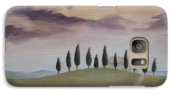 Galaxy Case featuring the painting Evening Tuscany by Jindra Noewi