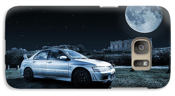 Galaxy Case featuring the photograph Evo 7 At Night by Steve Purnell
