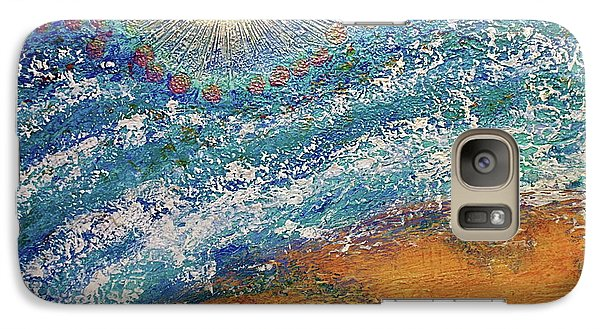 Galaxy Case featuring the painting Expansion  Heaven For Pandemonium Set Painting  by D Renee Wilson
