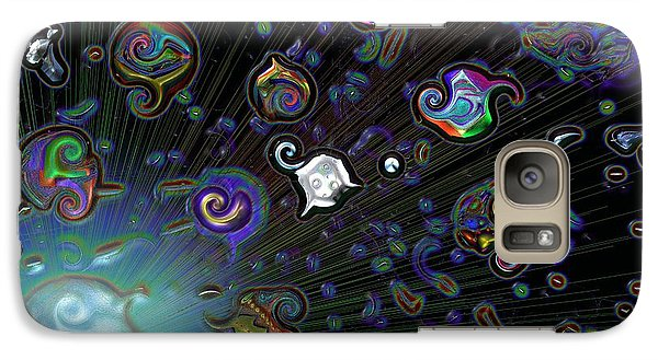 Galaxy Case featuring the digital art Exploding Star by Alec Drake
