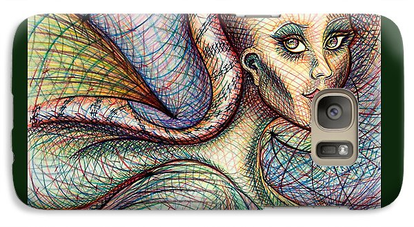 Galaxy Case featuring the drawing Exposed by Danielle R T Haney