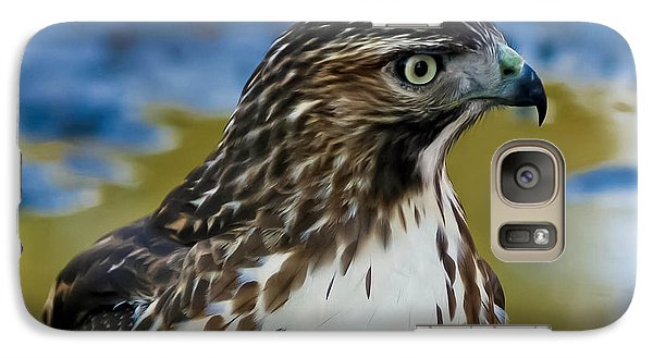 Galaxy Case featuring the photograph Eye Of The Hawk by Mitch Shindelbower