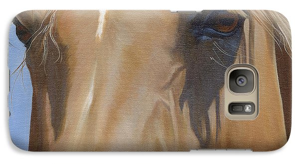 Galaxy Case featuring the painting Eye Shadows by Alecia Underhill