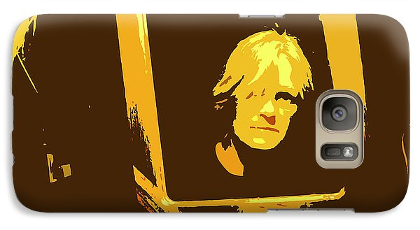 Galaxy Case featuring the digital art Face In The Mirror by Anne Mott