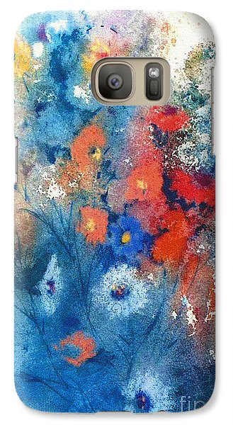 Galaxy Case featuring the painting Faerie Flowers by Joan Hartenstein